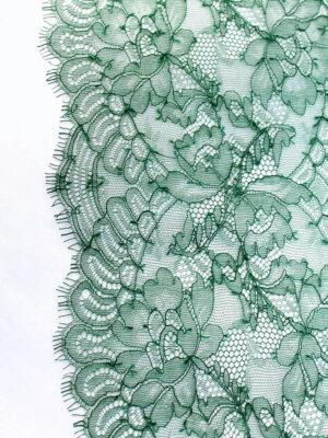 Кружево отделочное зеленое с фестонами (t0104) т-23 - Фото 10