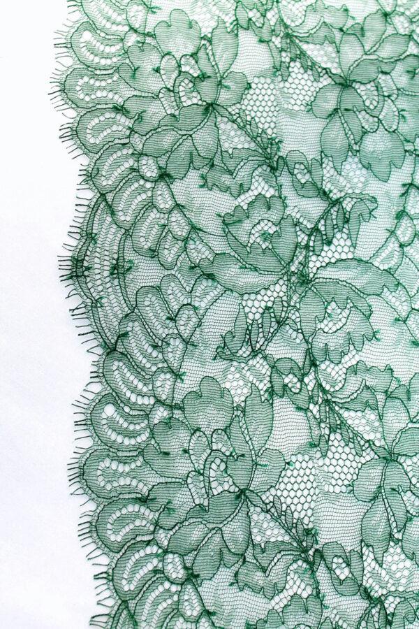 Кружево отделочное зеленое с фестонами (t0104) т-23 - Фото 7
