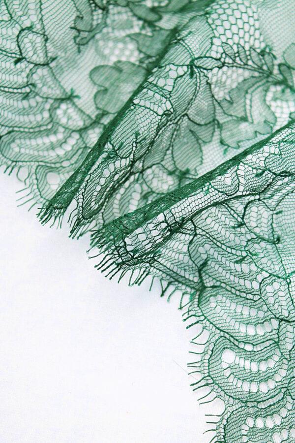 Кружево отделочное зеленое с фестонами (t0104) т-23 - Фото 8