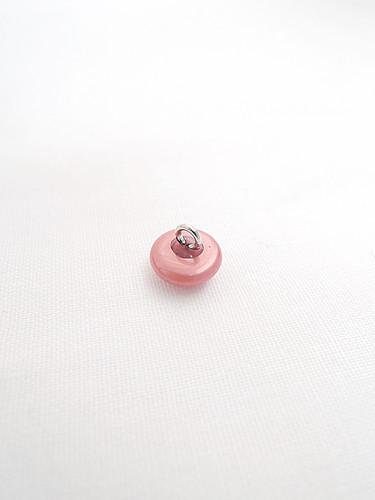 Пуговица пластиковая круглая на металлической ножке розовая (p0107) к11 - Фото 7