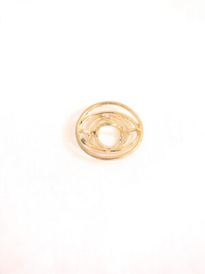 Кнопка пришивная круглая металл золото спираль (p0116) - Фото 14