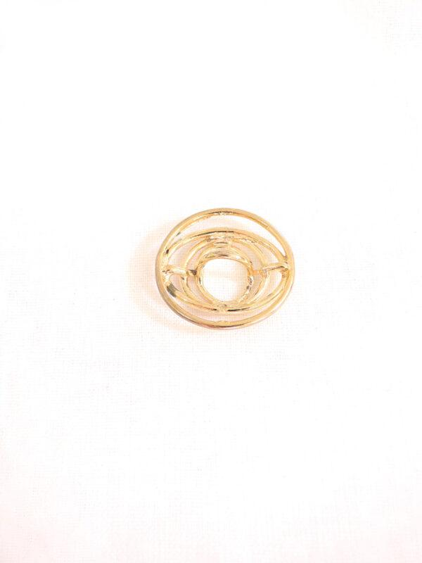 Кнопка пришивная круглая металл золото спираль (p0116) - Фото 7