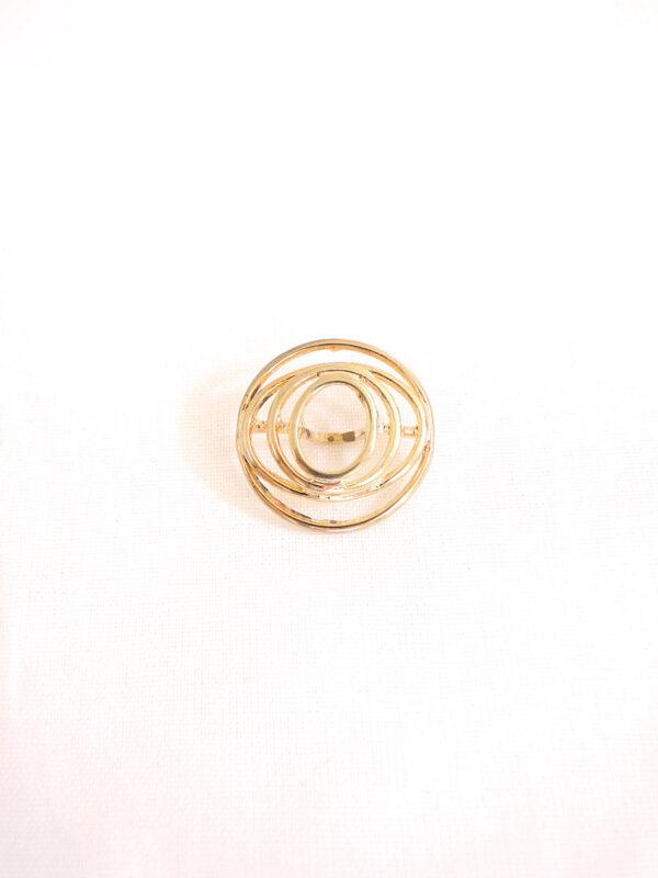 Кнопка пришивная круглая металл золото спираль (p0116) - Фото 6