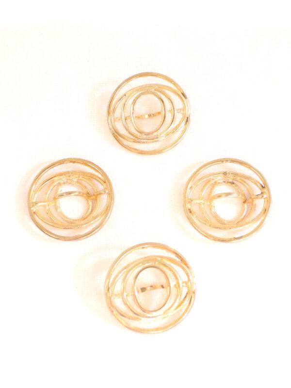 Кнопка пришивная круглая металл золото спираль (p0116) - Фото 8
