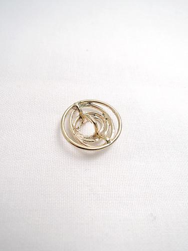 Пуговица металл спираль золотистая (p0118) к14н - Фото 7