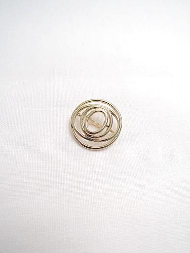Пуговица металл спираль золотистая (p0118) к14н - Фото 6