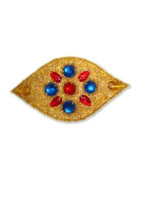 Аппликация декор золото красный синий византийская мозаика (t0128) - Фото 15