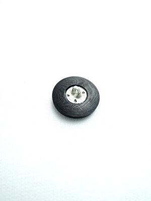 Пуговица пластик на металлической ножке черная (p0144) к17в - Фото 11