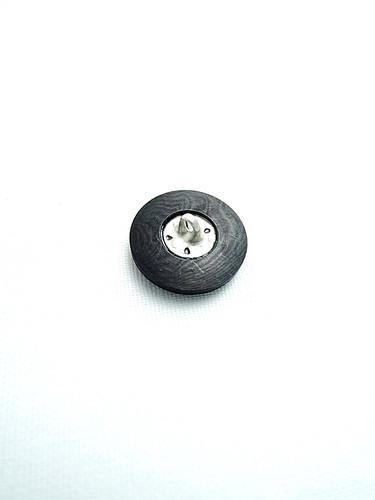Пуговица пластик на металлической ножке черная (p0144) к17в - Фото 7