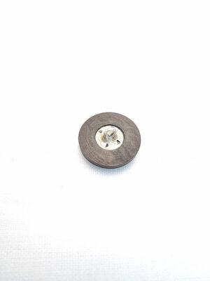 Пуговица маленькая круглая пластик на металлической ножке коричневая (p0145) к17в - Фото 14