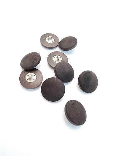 Пуговица маленькая круглая пластик на металлической ножке коричневая (p0145) к17в - Фото 8