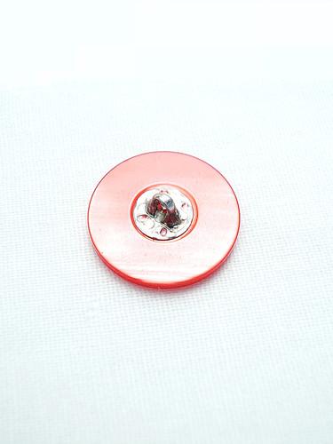 Пуговица пластик розовая с узором (p0147) к1 - Фото 7