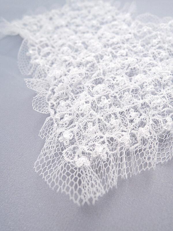 Элемент декора пришивной в виде сердца белый воздушный (t0158) д-2 - Фото 7