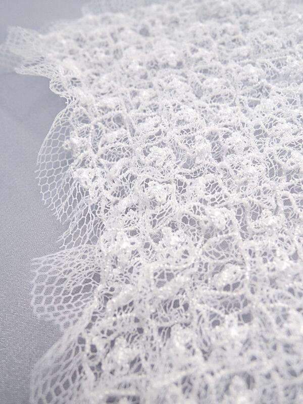 Элемент декора пришивной в виде сердца белый воздушный (t0158) д-2 - Фото 8