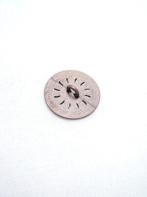 Пуговица металл старая медь с резьбой (p0184) к1 - Фото 11