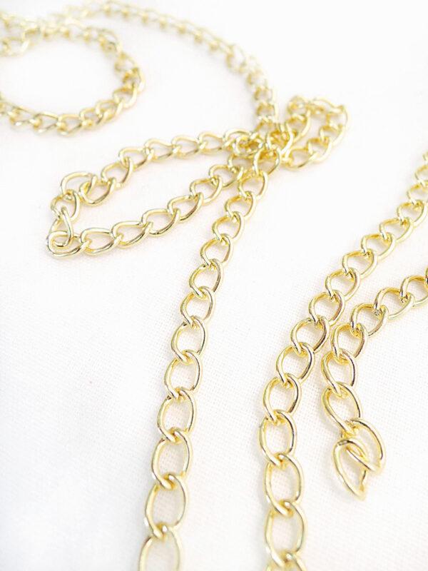 Цепь золотая на блистере (t0191) Д-1 - Фото 8