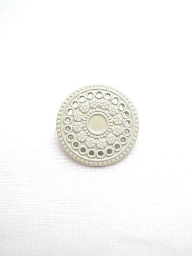 Пуговица металл эмаль молочного оттенка (p0193) к14н - Фото 6