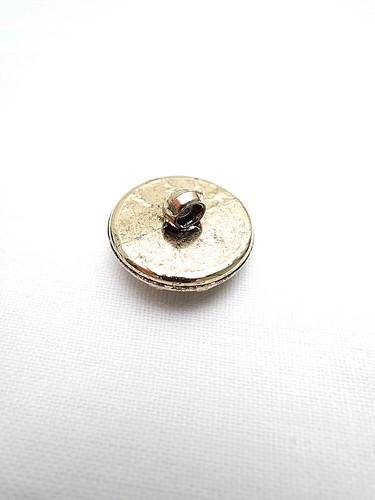 Пуговица пластик круглая золото черный жемчуг на ножке (p0201) - Фото 7