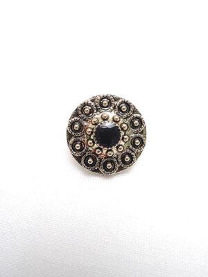 Пуговица пластик круглая золото черный жемчуг на ножке (p0201) - Фото 20