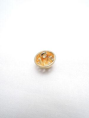 Пуговица металл маленькая на ножке золотая круглая в центре кристалл (P0202) - Фото 14