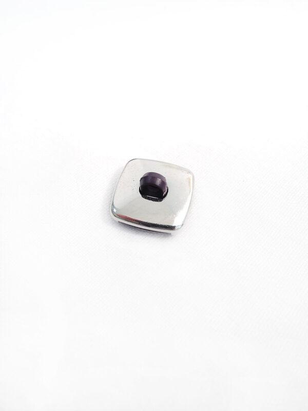 Пуговица металл сталь фиолетовая на ножке (p0204) к17н - Фото 7