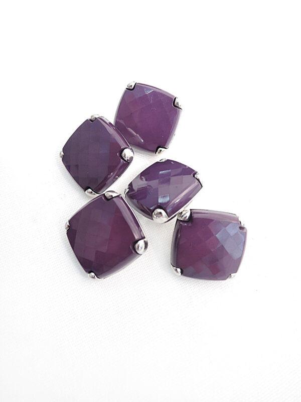 Пуговица металл сталь фиолетовая на ножке (p0204) к17н - Фото 8
