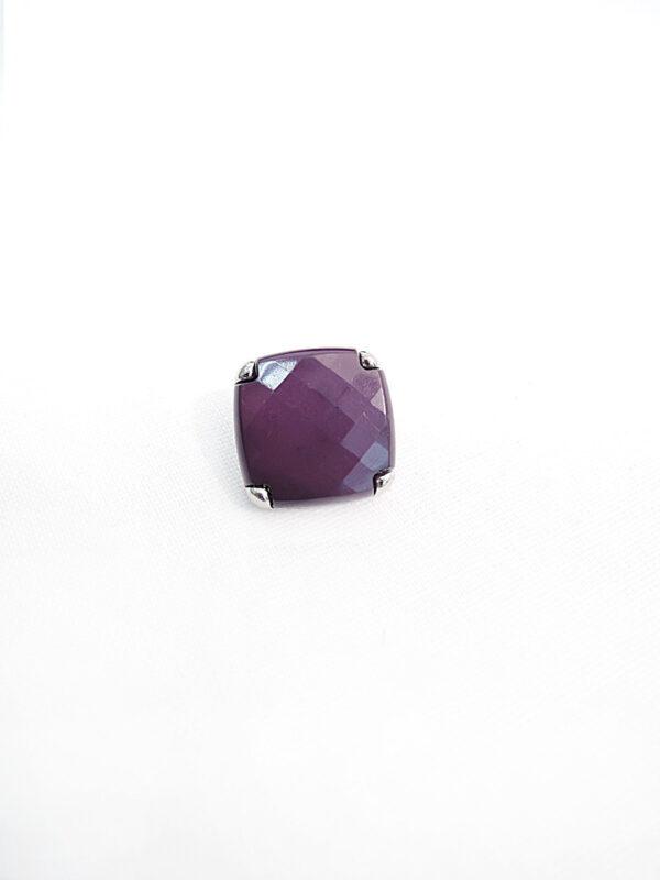 Пуговица металл сталь фиолетовая на ножке (p0204) к17н - Фото 6