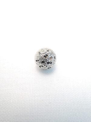 Пуговица маленькая металл серебро (p0209) к14н - Фото 13
