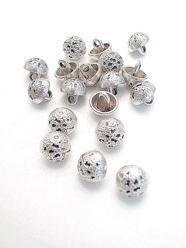 Пуговица маленькая металл серебро (p0209) к14н - Фото 8