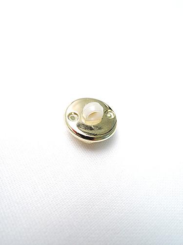 Пуговица маленькая звездочка в золотой оправе (p0211) к2 - Фото 7