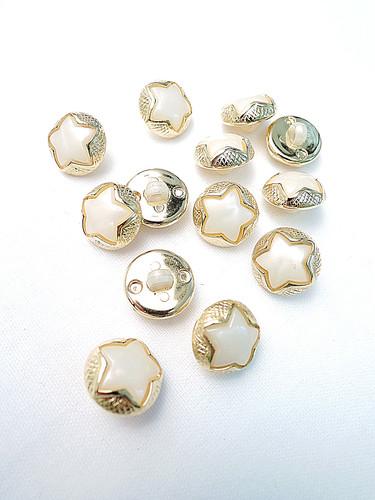 Пуговица маленькая звездочка в золотой оправе (p0211) к2 - Фото 8