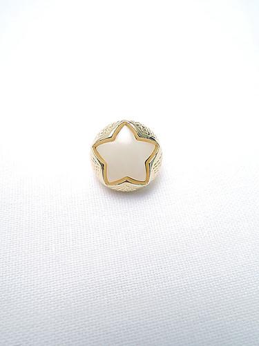 Пуговица маленькая звездочка в золотой оправе (p0211) к2 - Фото 6