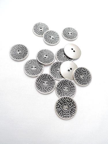 Пуговица металл серебро в арабском стиле (p0213) к1 - Фото 8