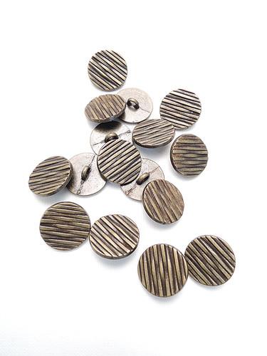 Пуговица металл бронза с полосками (p0218) к14н - Фото 8