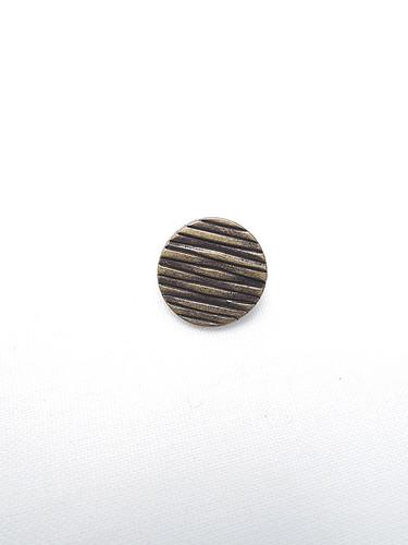 Пуговица металл бронза с полосками (p0218) к14н - Фото 6
