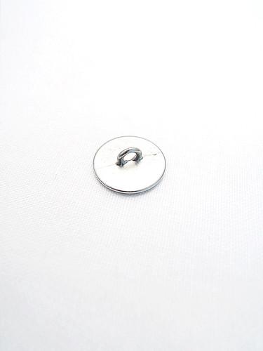 Пуговица металл серебро с кольцом из блесток (p0220) к2 - Фото 7