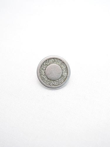Пуговица металл серебро с кольцом из блесток (p0220) к2 - Фото 6