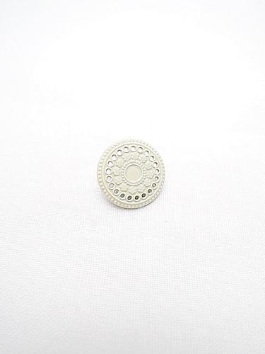 Пуговица металл эмаль молочного оттенка (p0222) к14н - Фото 6
