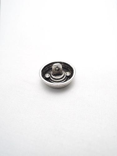 Пуговица металл старое серебро в виде абажура в полоску (p0223) к1 - Фото 7