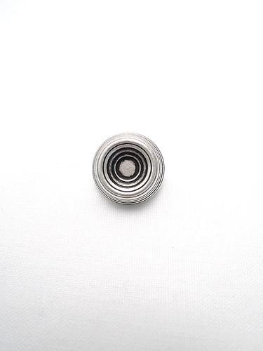 Пуговица металл старое серебро в виде абажура в полоску (p0223) к1 - Фото 6