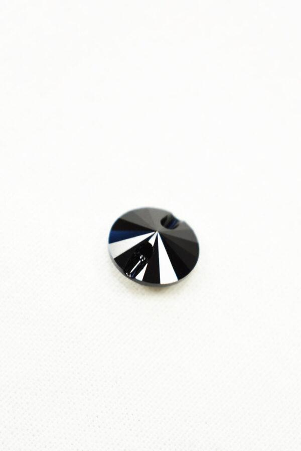 Пуговица черная кристалл Swarovski (p0226) к22 - Фото 7
