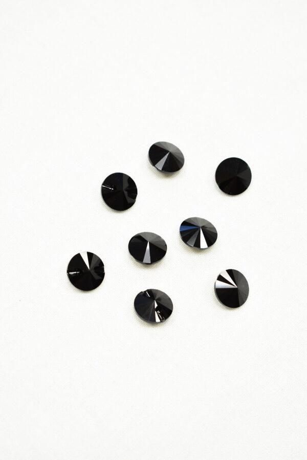 Пуговица черная кристалл Swarovski (p0226) к22 - Фото 8