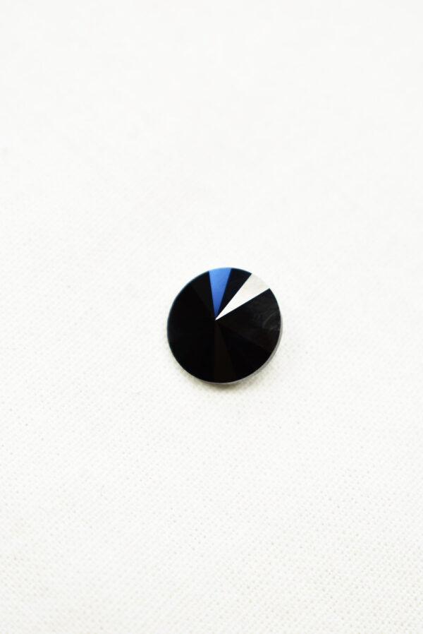 Пуговица черная кристалл Swarovski (p0226) к22 - Фото 6