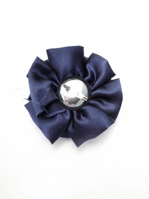 Брошь атласный синий цветок булавкой (p0234) - Фото 7
