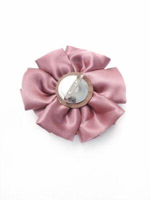 Брошь розовый атласный цветок с булавкой (p0236) - Фото 13