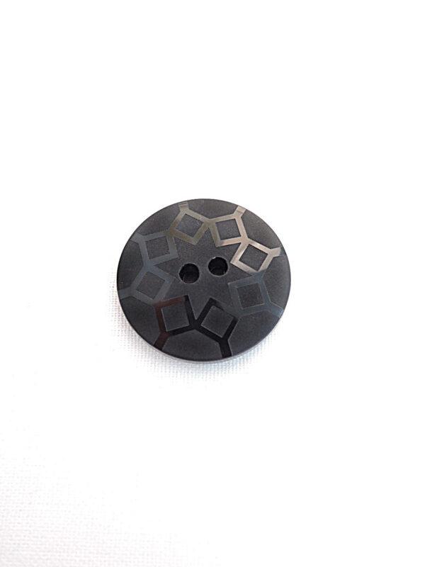 Пуговица пластик черная с ромбами (p0241) к21 - Фото 6