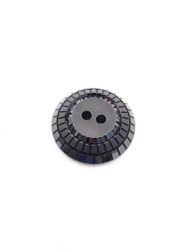 Пуговица пластик черная с квадратиками по кругу (p0242) к21 - Фото 6