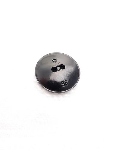 Пуговица пластик черная с рельефной окантовкой (p0244) к21 - Фото 7