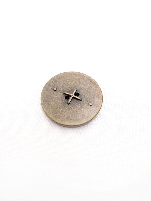 Пуговица бронза имитация машинной строчки (p0247) к21 - Фото 7
