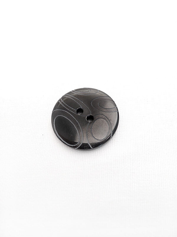 Пуговица пластик черная с овалами (p0248) к16в - Фото 6
